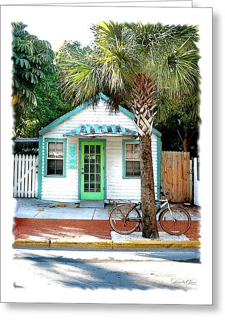 Keys House And Bike Greeting Card by Linda Olsen