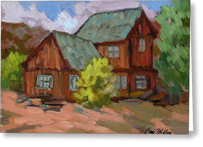 Keys Paintings Greeting Cards - Keys Ranch at Joshua Tree Greeting Card by Diane McClary