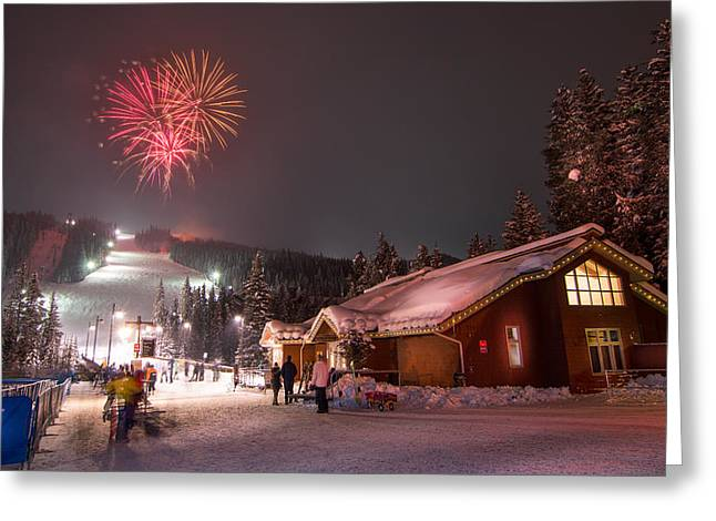 Scenic Greeting Cards - Keystone Resort Fireworks Greeting Card by Michael J Bauer