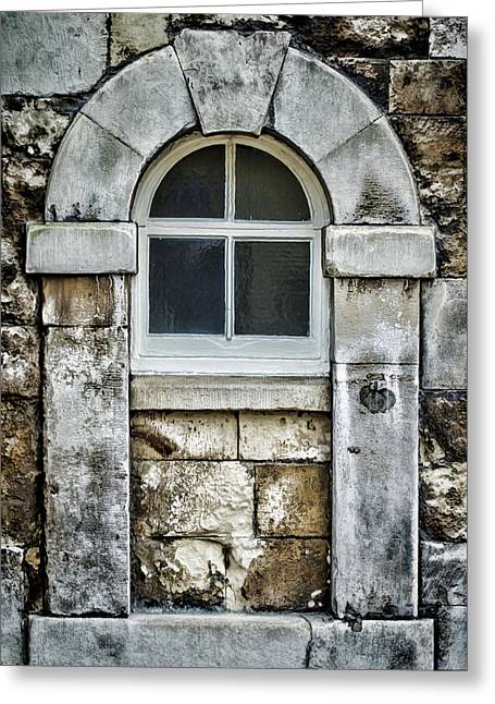 Medieval Entrance Greeting Cards - Keystone Window Greeting Card by Heather Applegate