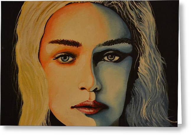 Game Greeting Cards - Khaleesi Game of Thrones Greeting Card by Martin Schmidt