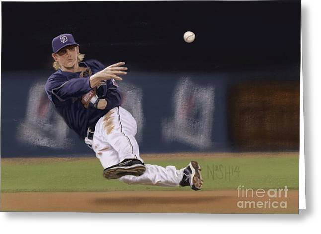 Petco Park Digital Art Greeting Cards - Khalil Greeting Card by Jeremy Nash