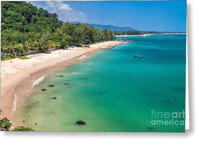 Khao Lak Beach Greeting Card by Adrian Evans