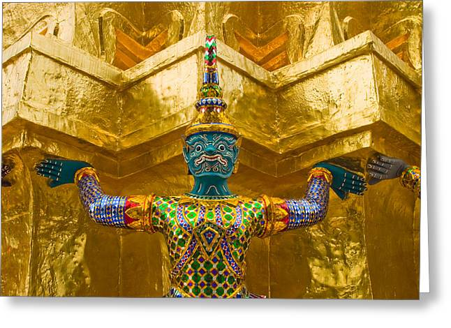 Bangkok Greeting Cards - Khon Guard Greeting Card by Adam Romanowicz