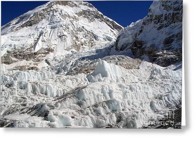 Mt Everest Base Camp Greeting Cards - Khumbu Icefall Greeting Card by Tim Hester