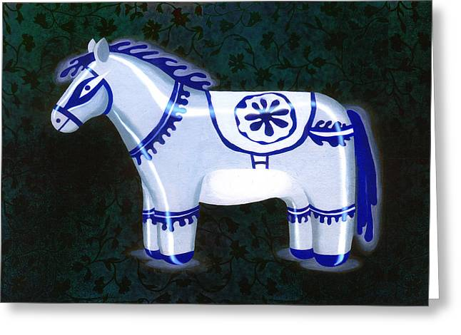 Antique Sculptures Greeting Cards - Khurja blue pottery antique Greeting Card by Renu K