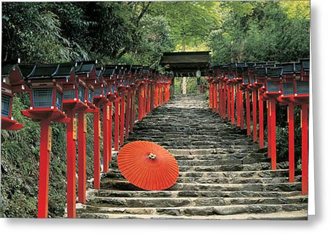 Kyoto Greeting Cards - Kibune Shrine Kyoto Japan Greeting Card by Panoramic Images