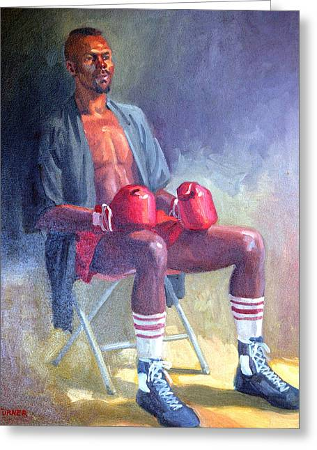 Kickboxers Greeting Cards - Kickboxer Greeting Card by Leona Turner