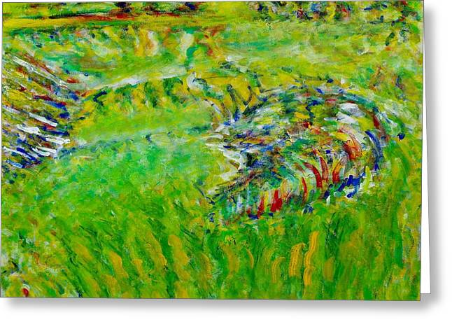 Impressionism Greeting Cards - Kicking Horse River Greeting Card by Chiho Yoshikawa