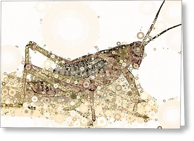 Grasshoppers Greeting Cards - Kicking Up Dust Greeting Card by Steven Boland