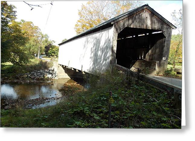 Grafton Vermont Greeting Cards - Kidder Hill Bridge 2 Greeting Card by Catherine Gagne