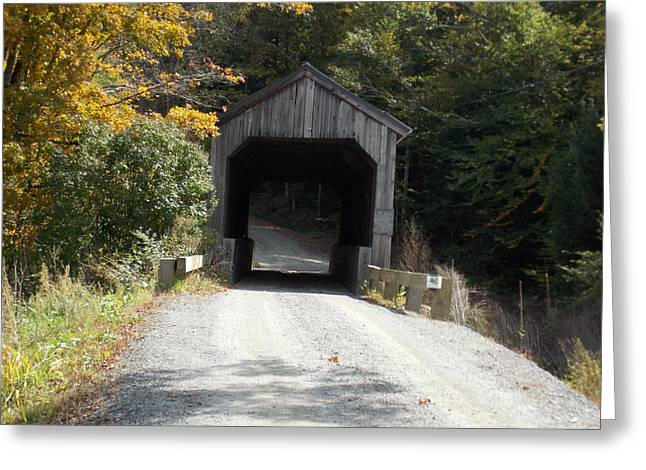 Grafton Vermont Greeting Cards - Kidder Hill Bridge Greeting Card by Catherine Gagne