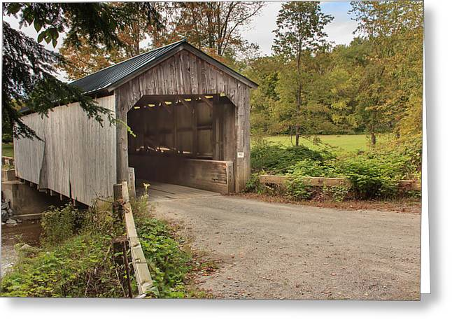 Grafton Vermont Greeting Cards - Kidder Hill covered bridge Greeting Card by Vance Bell