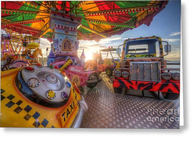 Kiddie Rides Greeting Cards - Kiddie Rides Greeting Card by Yhun Suarez