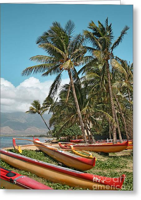 Honuaula Greeting Cards - Kihei Maui Hawaii Greeting Card by Sharon Mau