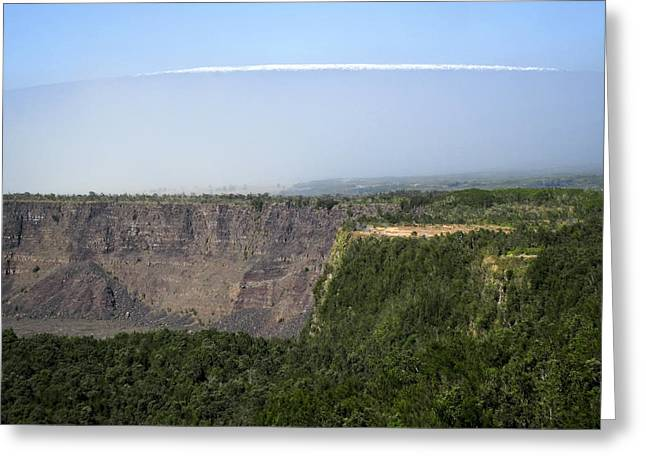 Super Volcano Greeting Cards - KILAUEA  CRATER and MAUNA LOA VOLCANO Greeting Card by Daniel Hagerman