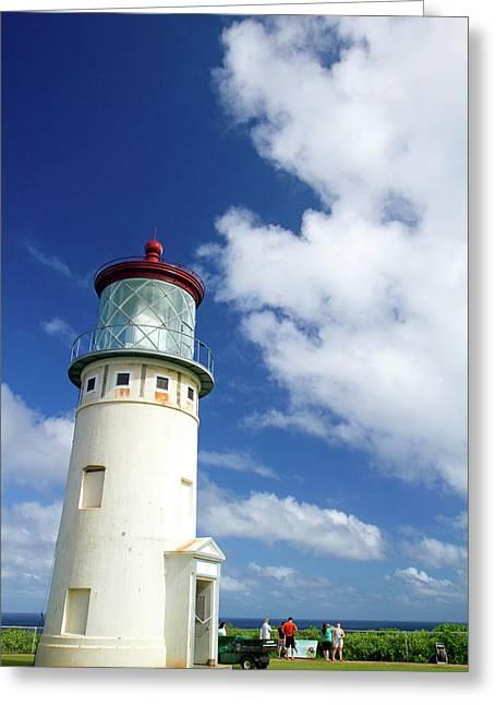 Kilauea Lighthouse Located On Kilauea Greeting Card by David R. Frazier