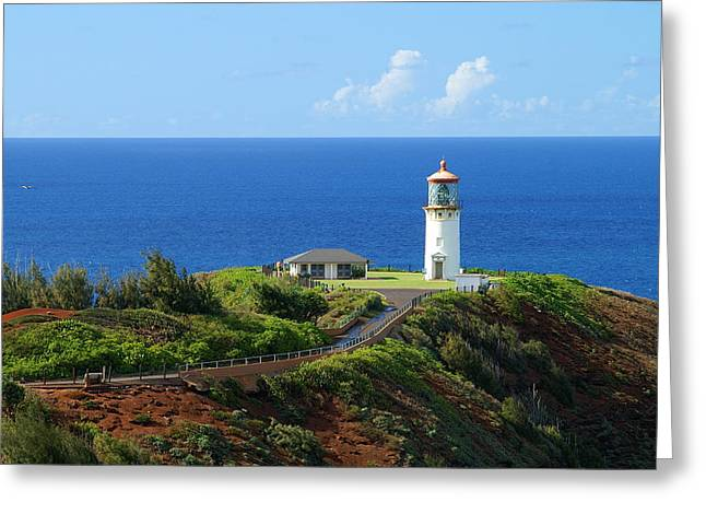 Kilauea Lighthouse Greeting Card by Shahak Nagiel