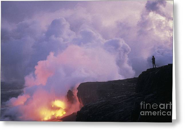 Ocean Landscape Greeting Cards - Kilauea Volcano, 1991 Greeting Card by Mark Newman