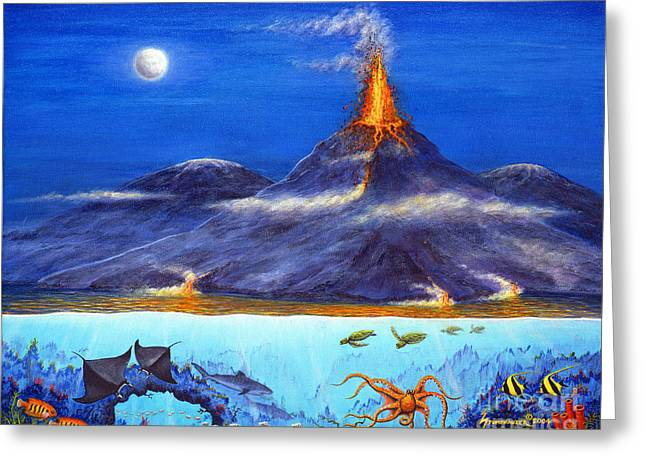 Snorkel Greeting Cards - Kilauea Volcano Hawaii Greeting Card by Jerome Stumphauzer