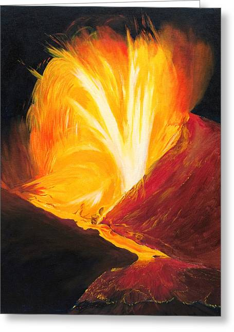 Kilauea Volcano In Hawaii Greeting Card by Phillip Compton