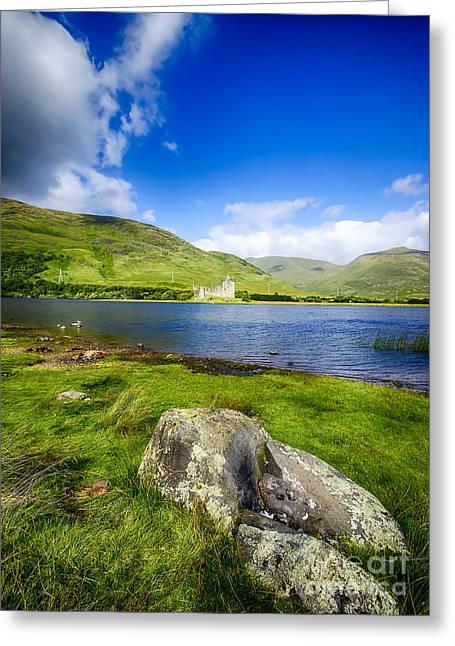 Kilchurn Castle Greeting Cards - Kilchurn Castle Loch Awe Greeting Card by Chris Thaxter