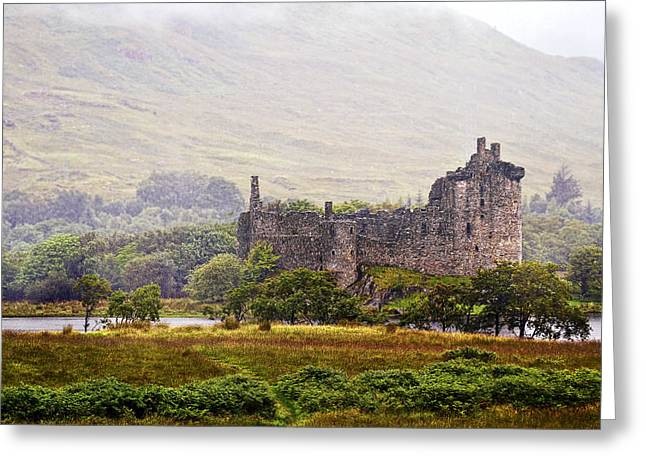 Campbell Clan Greeting Cards - Kilchurn Castle Greeting Card by Marcia Colelli