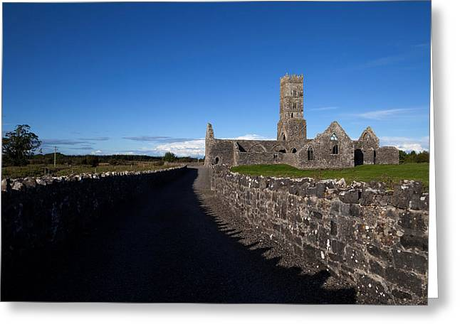 Antiquated Greeting Cards - Kilconnell Friary Founded In 1353 Greeting Card by Panoramic Images