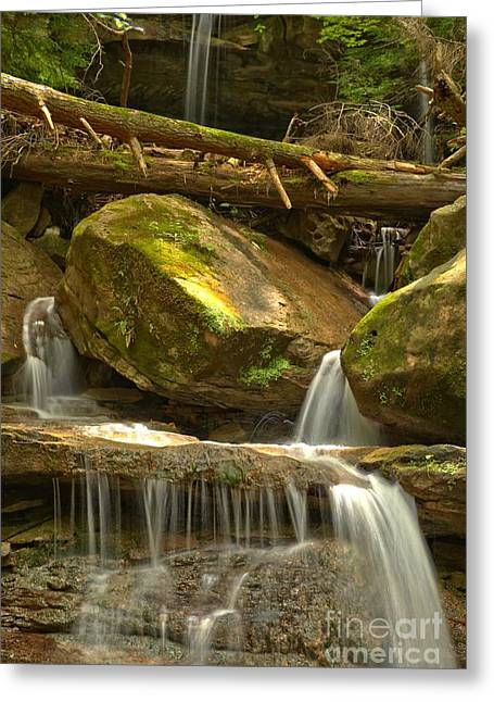 Mcconnells Mill Greeting Cards - Kildoo Falls Greeting Card by Adam Jewell