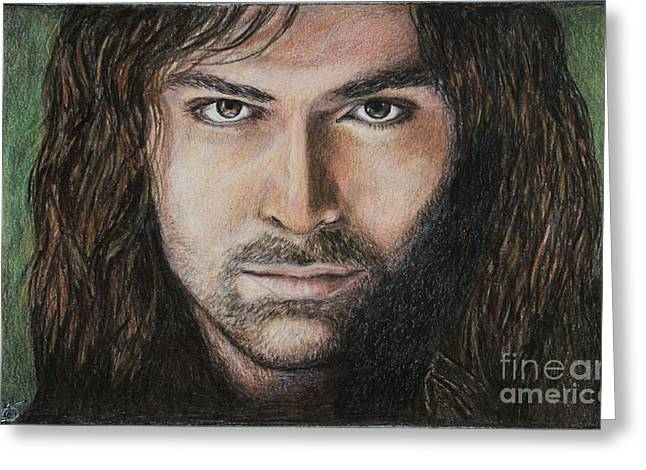 Tolkein Greeting Cards - Kili the dwarf Greeting Card by Christine Jepsen