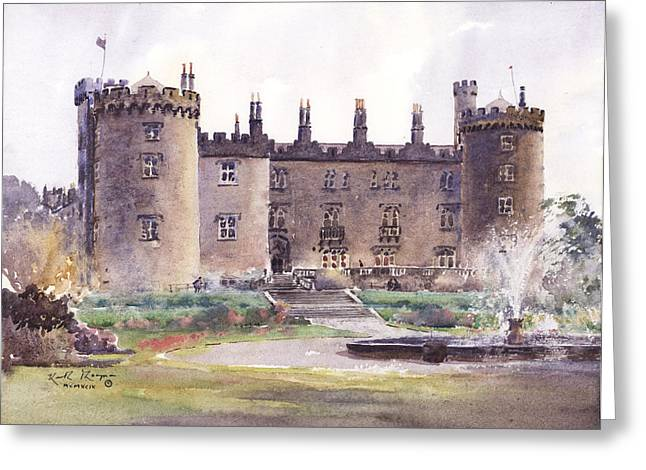 Www Greeting Cards Greeting Cards - Kilkenny Castle  Rose Garden Greeting Card by Keith W Thompson