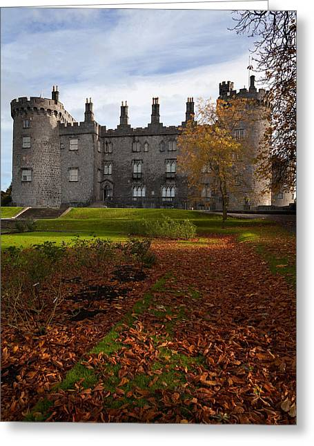 Russet Greeting Cards - Kilkenny Castle - Rebuilt In The 19th Greeting Card by Panoramic Images