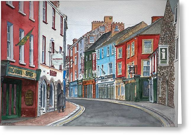 Cobblestone Greeting Cards - Kilkenny Ireland Greeting Card by Anthony Butera
