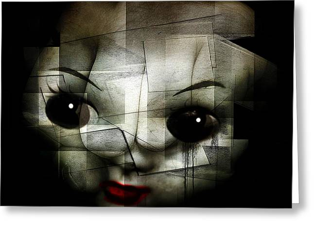Creepy Digital Art Greeting Cards - Kill the clown Greeting Card by Johan Lilja