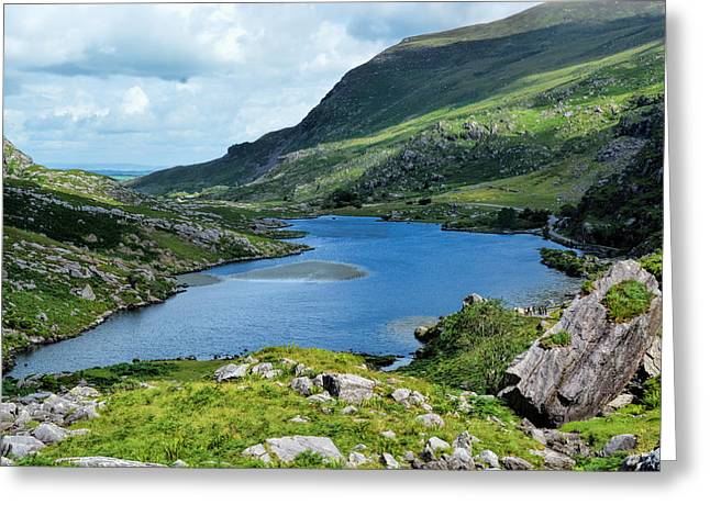 Could Reach Greeting Cards - Killarneys Lakes So Blue Greeting Card by Maggie Magee Molino