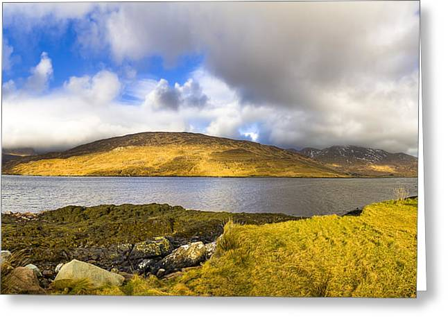 Winter Scenes Rural Scenes Greeting Cards - Killary Harbour on the Irish West Coast Greeting Card by Mark Tisdale
