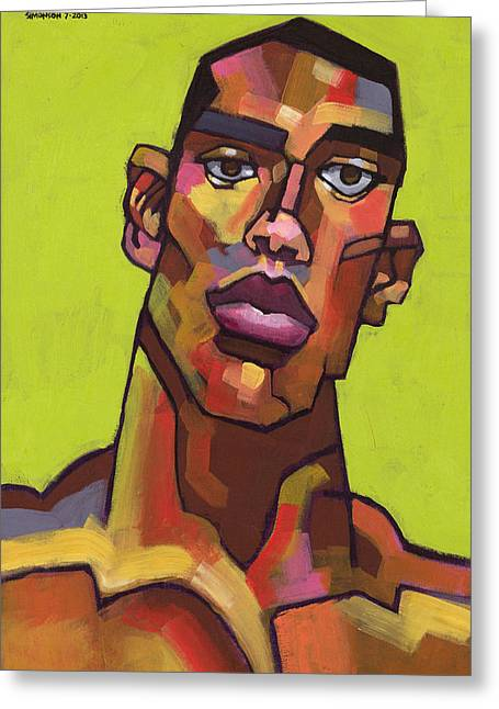 Stylized Paintings Greeting Cards - Killer Joe Greeting Card by Douglas Simonson