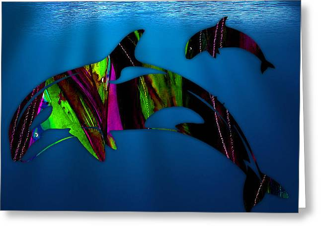 Whale Greeting Cards - Killer Whales Greeting Card by Marvin Blaine