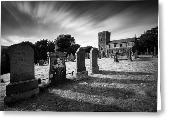 Gravestones Greeting Cards - Kilmartin Parish Church Greeting Card by Dave Bowman