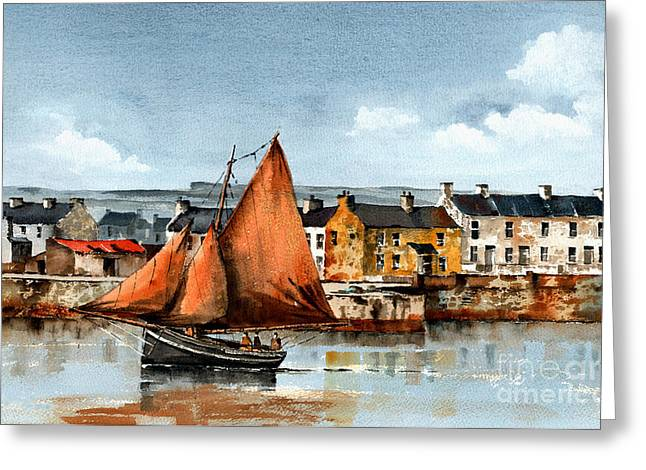 Val Byrne Greeting Cards - Kilronan Aran Islands Galway Greeting Card by Val Byrne