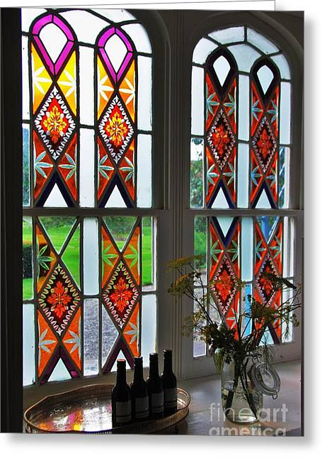 Still Life By Window Greeting Cards - Kilrudderry Stained Glasss Window Greeting Card by Marcus Dagan