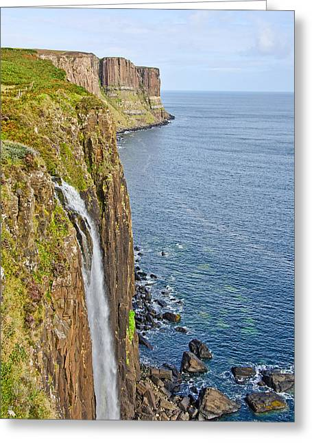 Kilt Rock Waterfall Greeting Card by Chris Thaxter