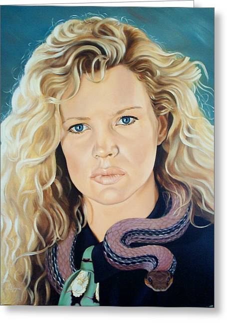 Snider Greeting Cards - Kim  Basinger Greeting Card by Yechiel Abramov