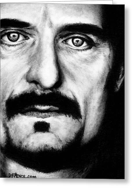 Kim Drawings Greeting Cards - Kim Coates as Tig Trager Greeting Card by Rick Fortson