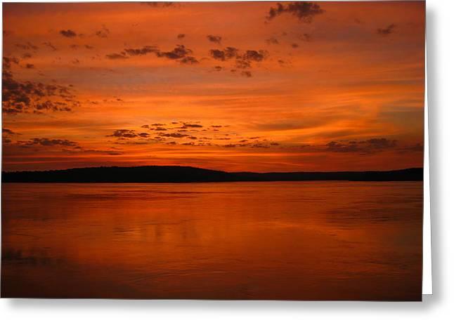 Laura Hiesinger Greeting Cards - Kimberley Sunset Greeting Card by Laura Hiesinger