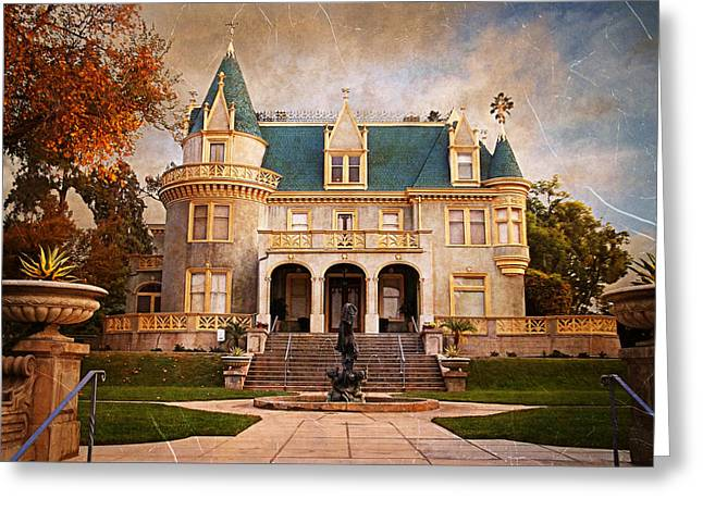Recently Sold -  - Chateau Greeting Cards - Kimberly Crest Manor - Vintage View Greeting Card by Glenn McCarthy