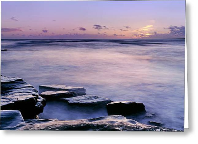 Jurassic Greeting Cards - Kimmeridge Bay Greeting Card by Rod McLean