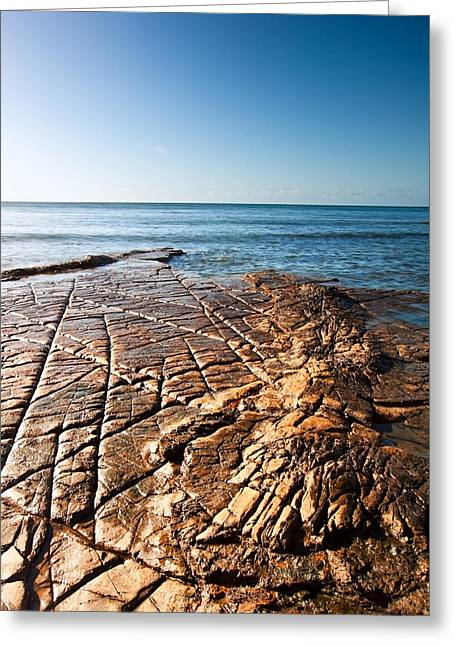 Kimmeridge Bay Seascape  Greeting Card by Matthew Gibson