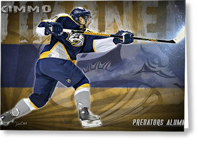 Reebok Greeting Cards - Kimmo Timonen Greeting Card by Don Olea
