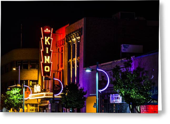 Outdoor Theater Greeting Cards - Kimo Night Greeting Card by Angus Hooper Iii